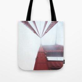 Golden Gate Bridge fogged up - San Francisco, CA Tote Bag