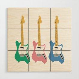 Strumming the guitar! Wood Wall Art