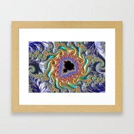 Colorful Slopes Mandelbrot Fractal Framed Art Print