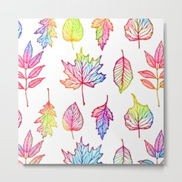 colorful Autumn leaf Metal Print