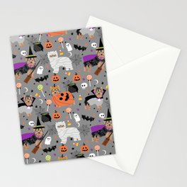 Yorkie halloween costumes pumpkin mummy witch vampire ghost yorkshire terrier Stationery Cards