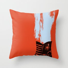 the boot goes on Throw Pillow