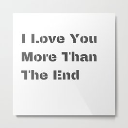 Love Matters Inspo Quotes Metal Print