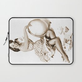 Out of This World by Gil Elvgren Pin Up Girl Laptop Sleeve