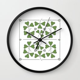 Shamrocks & Trinity Knots Wall Clock