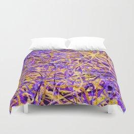 Purple and Gold Celebration Duvet Cover