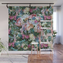 Romantic flowers II Wall Mural