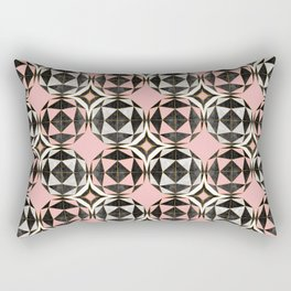 Geodesic Optic Roses Rectangular Pillow