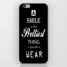 a smile iPhone & iPod Skin