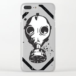 Gas Mask Clear iPhone Case