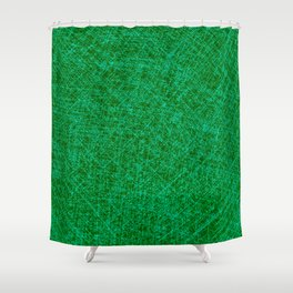 Scratched Green Shower Curtain