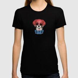 Cute Puppy Dog with flag of Croatia T-shirt