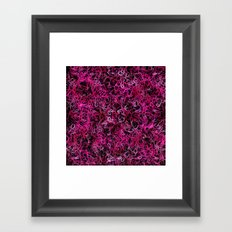 Hot Pink and Black Electric Lines Framed Art Print