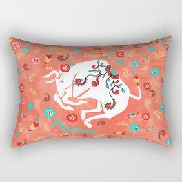 Boho Zodiac Sign- Taurus Astrology Watercolor Illustration Rectangular Pillow