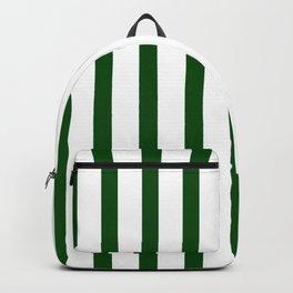 Dark Green Vertical Stripes Design Backpack