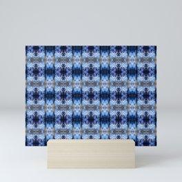 snowflake in blue 8 pattern Mini Art Print