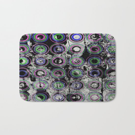 Urban Rings Pattern III - Textured Abstract Bath Mat