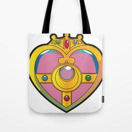 Neon Heart Pendant Tote Bag