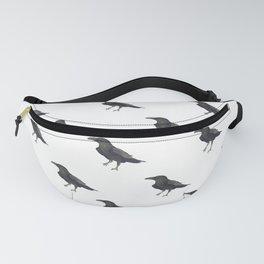 Raven Pattern Fanny Pack