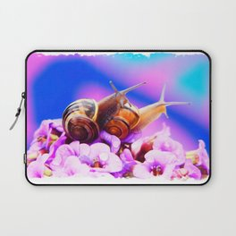 The Cotton Candy World Of Mating Snails Laptop Sleeve