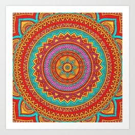 Hippie mandala 95 Art Print