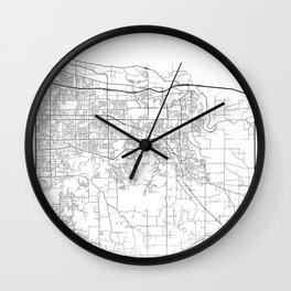 Minimal City Maps - Map Of Gresham, Oregon, United States Wall Clock