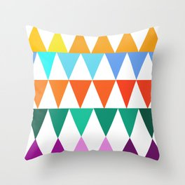 Triangles of Color Throw Pillow