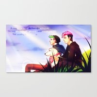 markiplier Canvas Prints featuring Markiplier and Jacksepticeye - Dreamers by Draw With Rydi