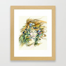 Flory Framed Art Print