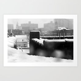 Snowy Escape Art Print