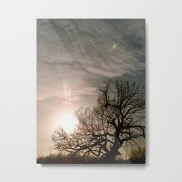 Holding the Sun Metal Print