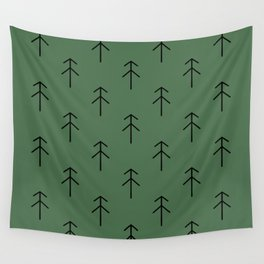 Spruces on green Wall Tapestry