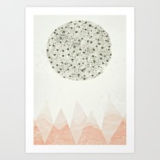the Moon Art Print