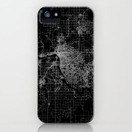 Tulsa map Oklahoma iPhone Case