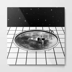 Pool Moon Metal Print