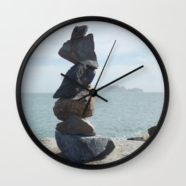 Rock Sculpture  Wall Clock