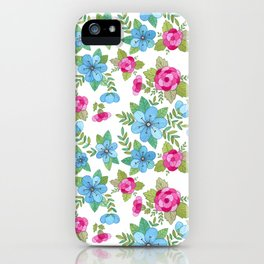 Blue Lilly Watercolor iPhone Case