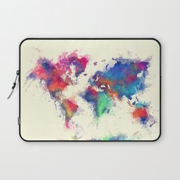 world map 105 #worldmap #map Laptop Sleeve
