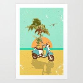 SCOOTER TROPICS Art Print