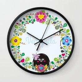 Flower Garland|Corona Florida Wall Clock