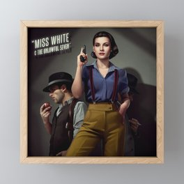 Miss White Framed Mini Art Print