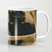 gangster Mugs featuring Paper Gangster by Ashley Overton