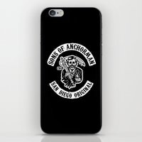 anchorman iPhone & iPod Skins featuring Sons of Anchorman by Brandon Wilhelm ART