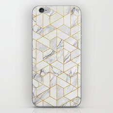 Marble hexagonal pattern iPhone Skin