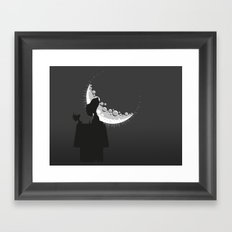 Looking the moon Framed Art Print