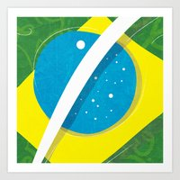 "brasil Art Prints featuring ""BRASIL"" by Alejandro Mamán Pires"