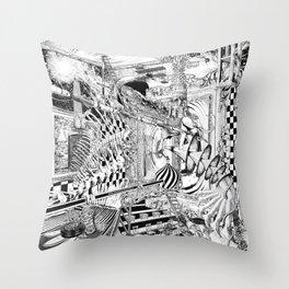 LA DIMENSIÓN DE CALABI-YAU O UNA TARDE EN EL BELLAGIO Throw Pillow