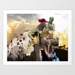 Pet Hyena Art Print