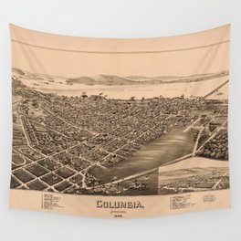 Aerial View of Columbia, Pennsylvania (1894) Wall Tapestry