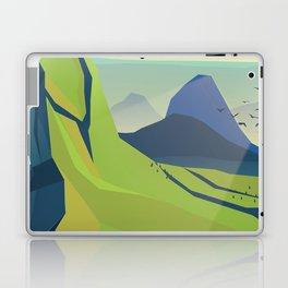 machu picchu travel poster Laptop & iPad Skin